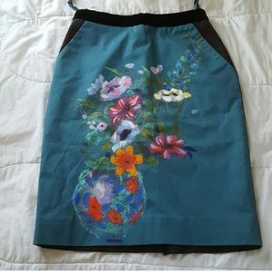 Hand painted vase skirt from Anthropologie
